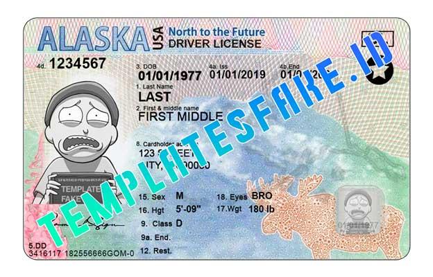 Alaska DL USA PSD Template