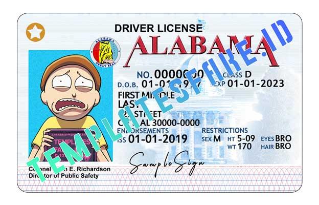 Alabama DL USA PSD Template