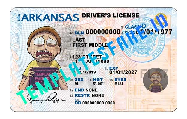 Arkansas DL USA PSD Template