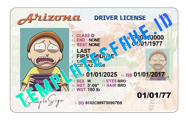 Arizona DL USA PSD Template
