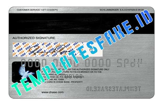 Chase Bank Credit Card USA PSD Template