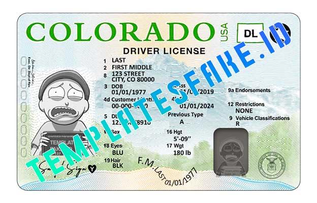 Colorado DL USA PSD Template