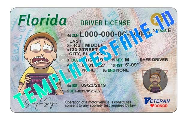 Florida DL USA PSD Template