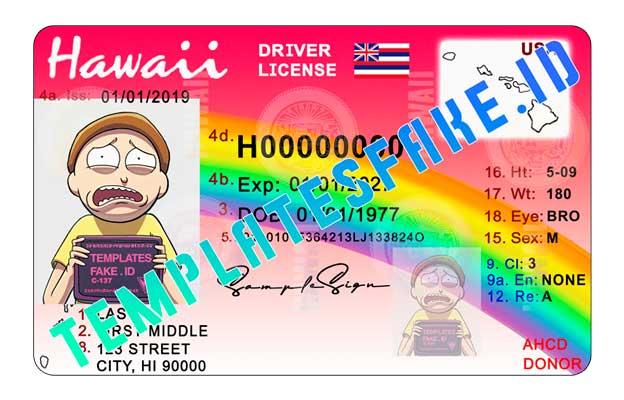 Hawaii DL USA PSD Template