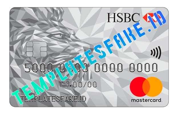 HSBC Bank Credit Card GBR PSD Template