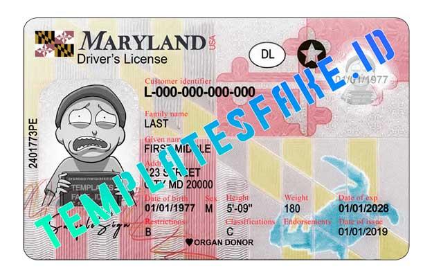 Maryland DL USA PSD Template