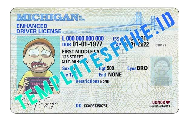 Michigan DL USA PSD Template