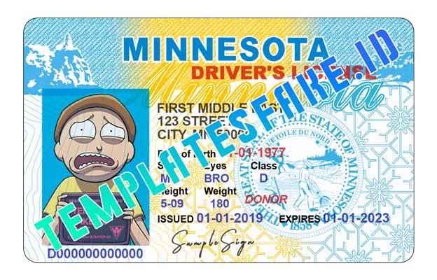 Minnesota DL USA PSD Template