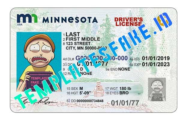 Minnesota NEW DL USA PSD Template