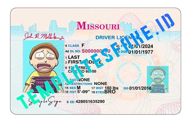 Missouri DL USA PSD Template