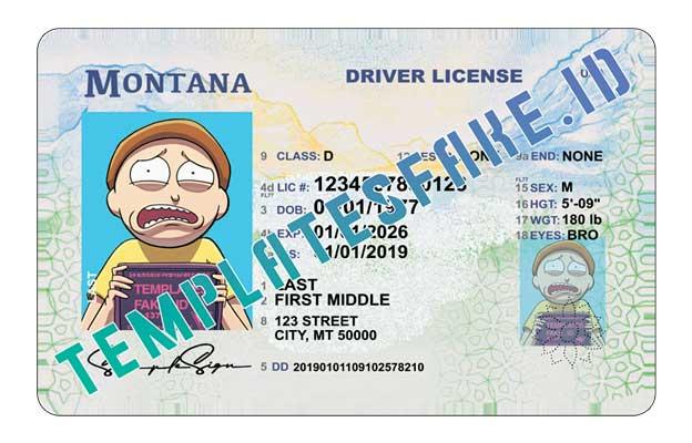 Montana DL USA PSD Template