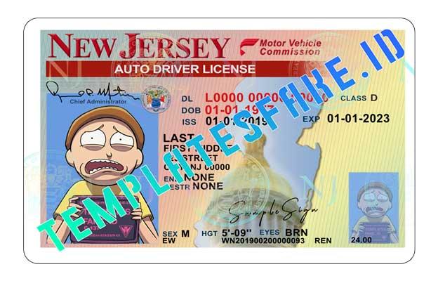New Jersey DL USA PSD Template