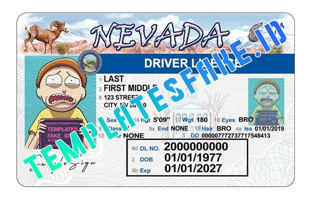 Nevada DL USA PSD Template