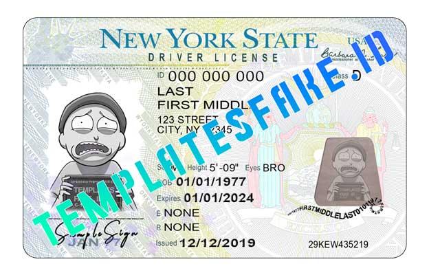New York DL USA PSD Template