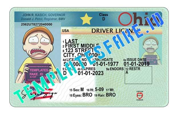 Ohio DL USA PSD Template