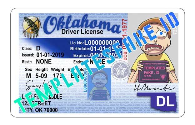 Oklahoma DL USA PSD Template