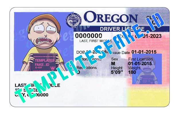 Oregon DL USA PSD Template