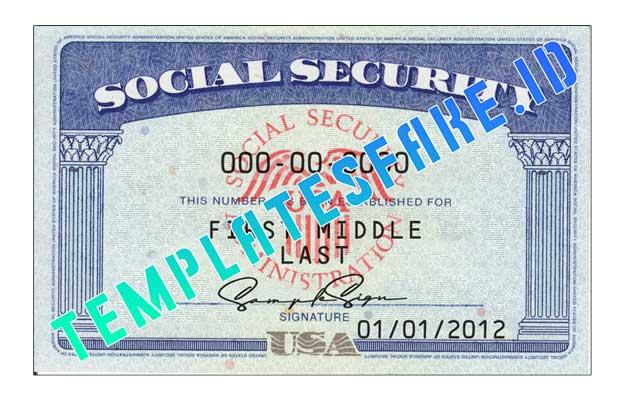Social Security number USA PSD Template