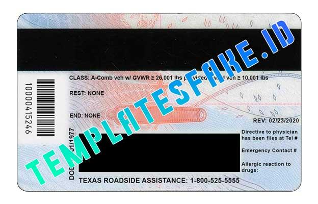 Texas NEW DL USA PSD Template