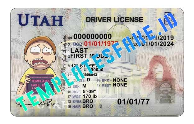Utah DL USA PSD Template