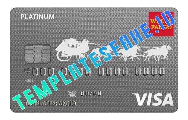 Wells Fargo Bank Credit Card USA PSD Template