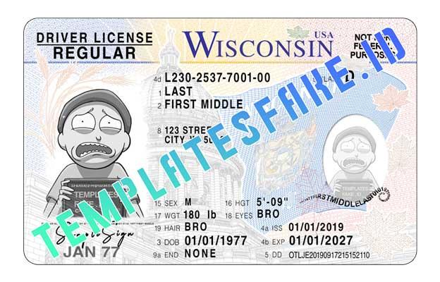 Wisconsin DL USA PSD Template