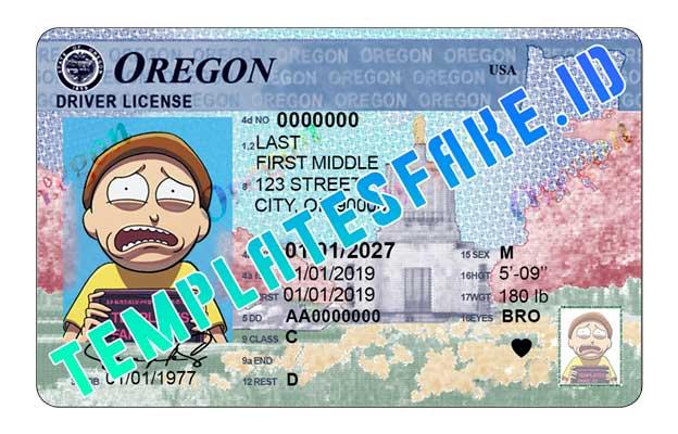 Oregon NEW DL USA PSD Template